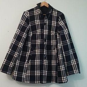Jones New York Reversible Plaid jacket